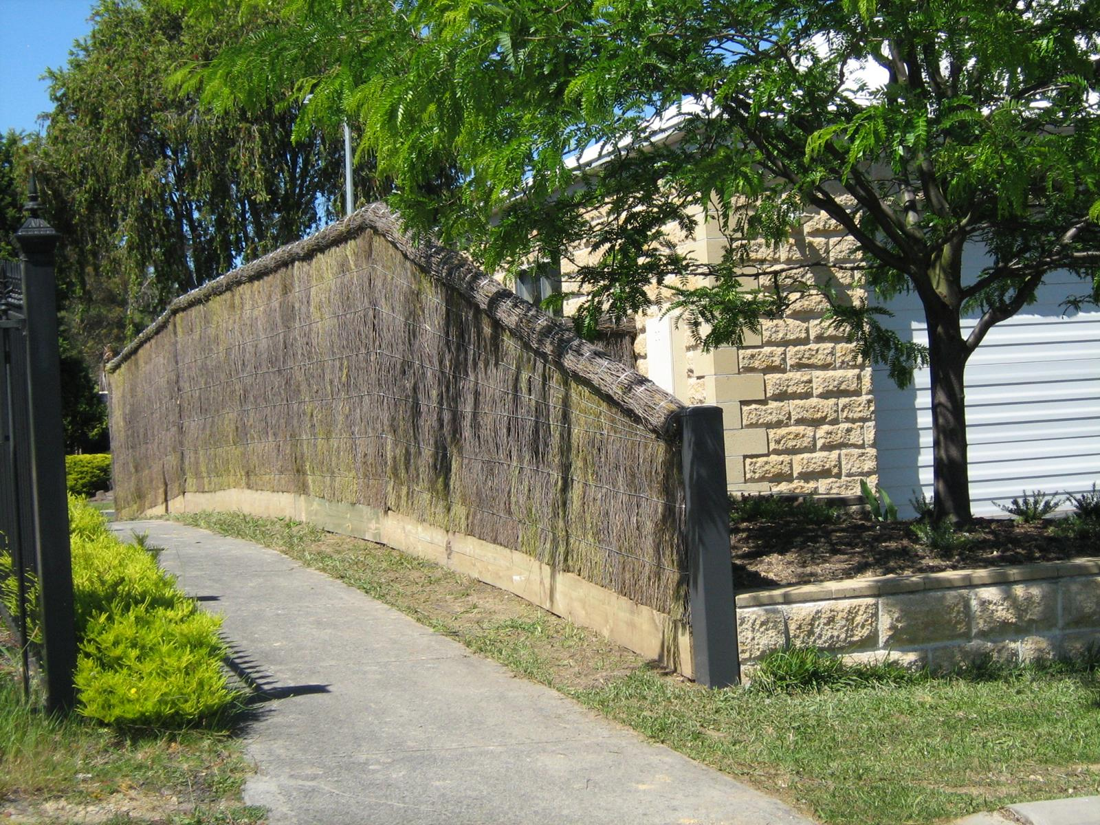 Alteration to Brushwood Fence