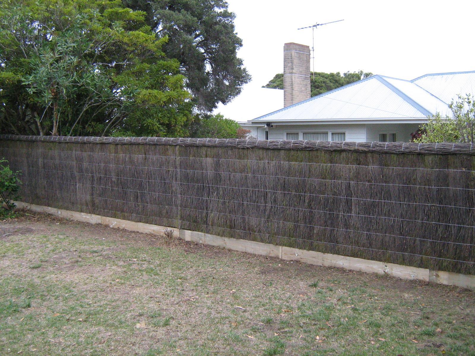Brush Fence Gate